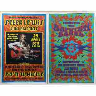 (6) signed Music Posters designed or restored by Dennis