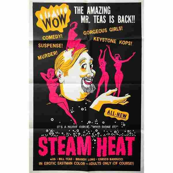 Original- Steam Heat- Adult B-Film Movie Poster