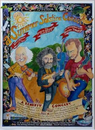 David Grisman Quintet Summer Solstice Concert Poster