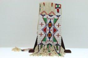 A Contemporary Sioux Beaded Tobacco Bag