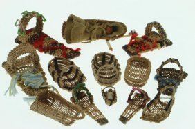 Collection Of California Basketry Miniature Cradles