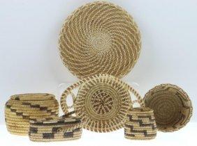 Six Papago Baskets