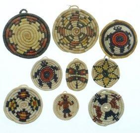 Nine Hopi Miniature Coiled Plaques