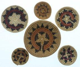 Six Navajo Miniature Ceremonial Trays