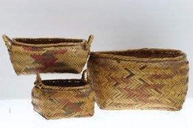 Three Choctaw Baskets