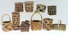 Collection Of Southeast Miniature Baskets
