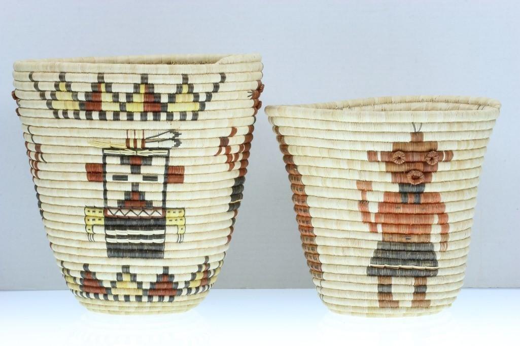 Two Hopi baskets
