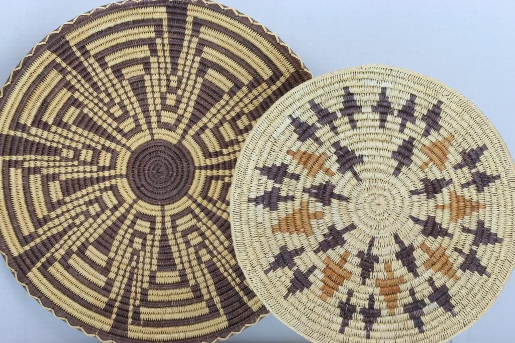Two Navajo trays