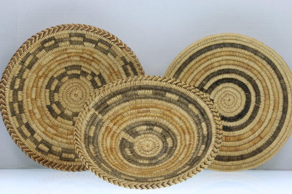 Three Navajo trays