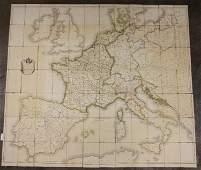 Napoleon's Pocket Map of Europe. 1811-12