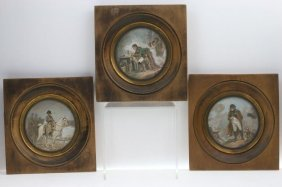 Three Miniature Paintings Of The Life Of Napoleon