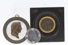 Napoleon Bronze Medal, Bronze Bust, 5 Francs 1811 Coin