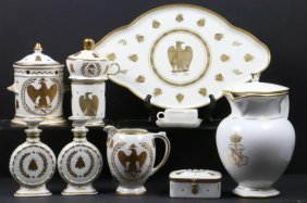 Sevres Porcelain Covered Pitcher And Napoleonic Motif