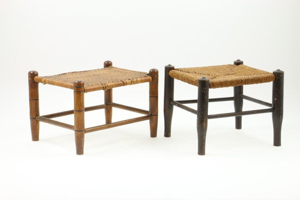 TWO AMERICAN CHILDREN' STOOLS, 19TH/EARLY 20TH CENTURY