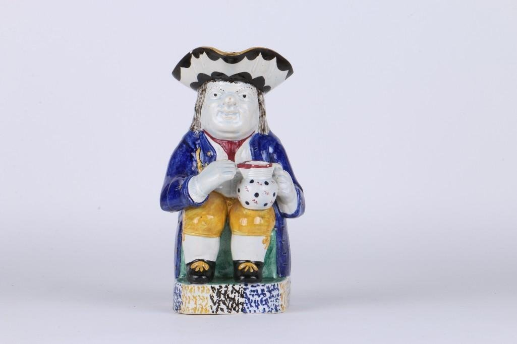 STAFFORDSHIRE POTTERY TOBY, EARLY 19TH CENTURY