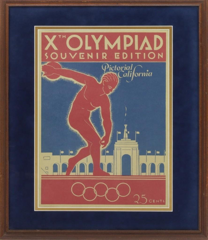 1932 LOS ANGELES OLYMPIC PICTORIAL CALIFORNIA