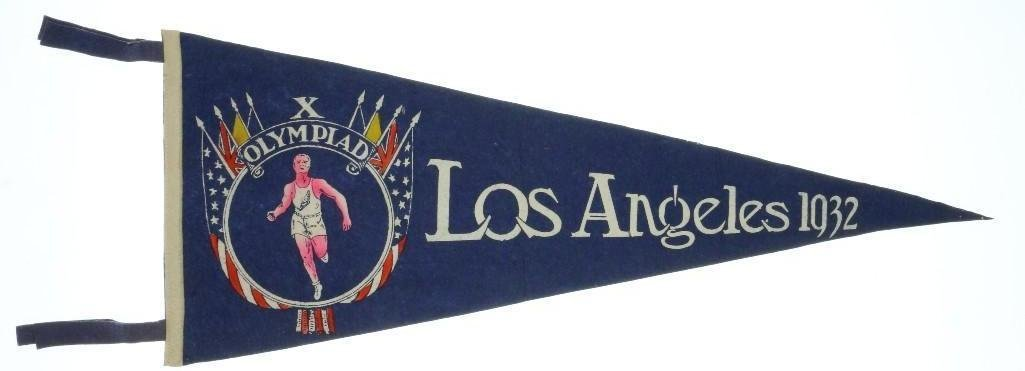 1932 LOS ANGELES OLYMPIC PENNANT