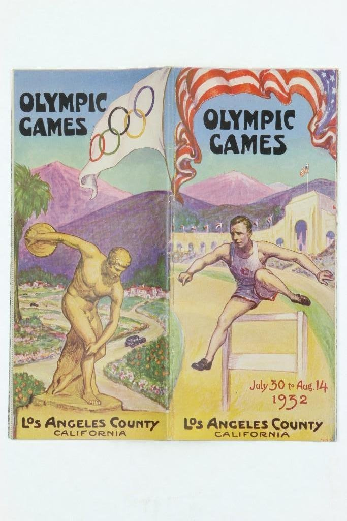 1932 LOS ANGELES OLYMPICS BOOKLET