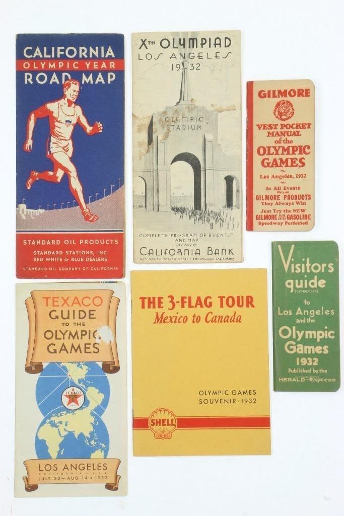 LOT OF 1932 LOS ANGELES OLYMPICS EPHEMERA