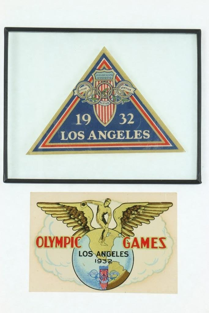 1932 LOS ANGELES OLYMPIC DECALS