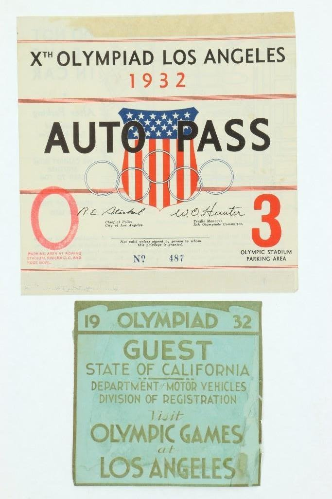 Xth OLYMPIAD AUTO PASS AND PERMIT