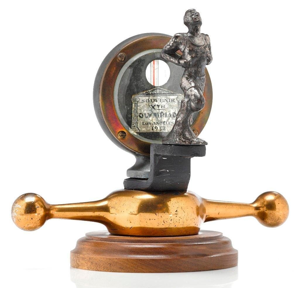 1932 L.A. OLYMPIC MOTO-METER WITH RUNNER MASCOT