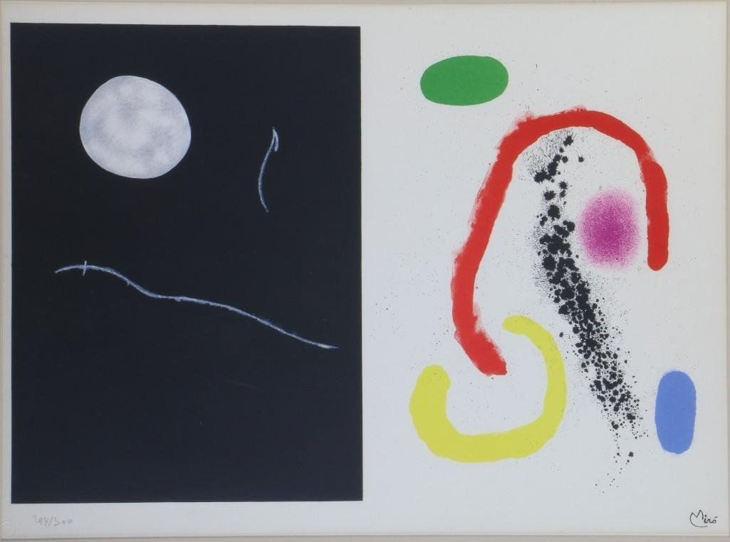 JOAN MIRO LITHOGRAPH (1893-1983)
