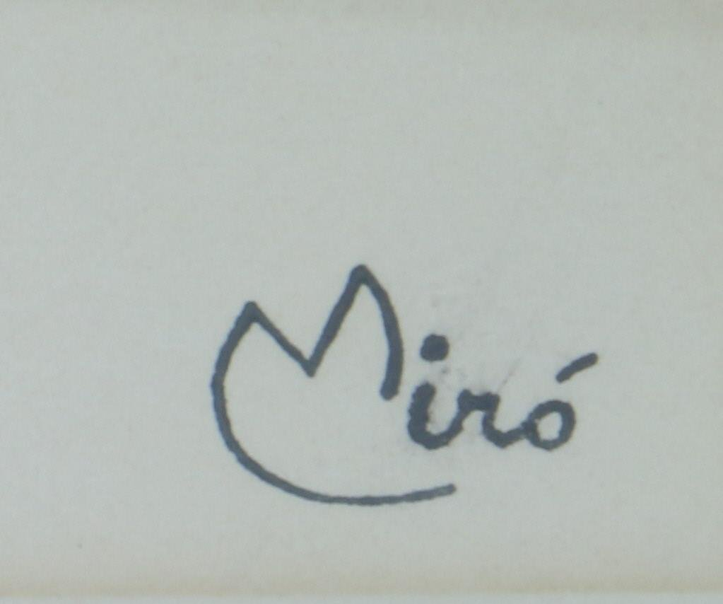JOAN MIRO LITHOGRAPH (1893-1983) - 3