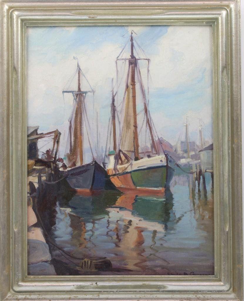 Emile Albert Gruppe  (1896 - 1978) Gloucester Painting