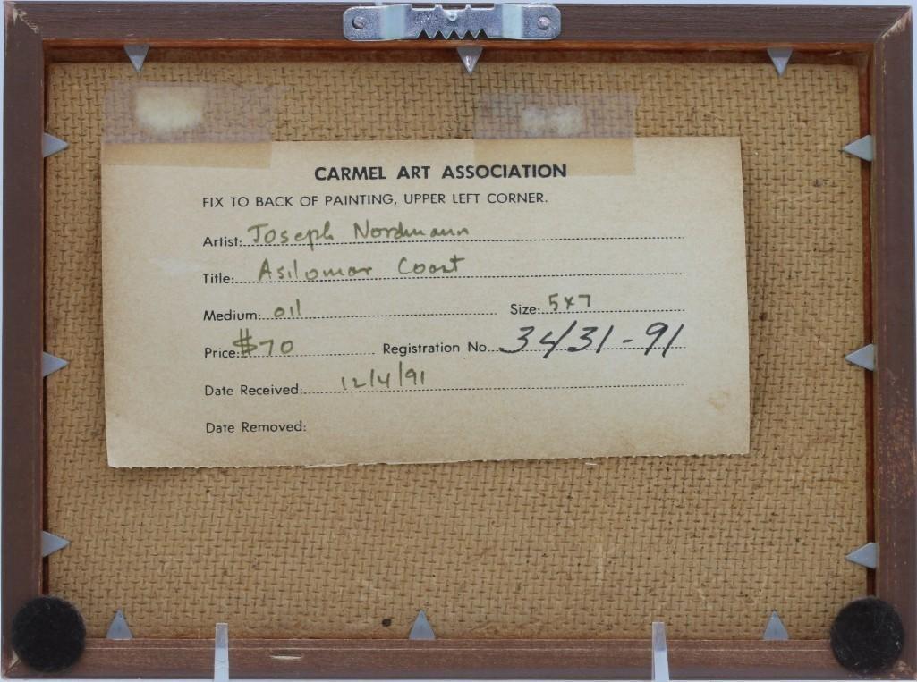 Joseph Nordmann (born 1922) Carmel Art Association - 3