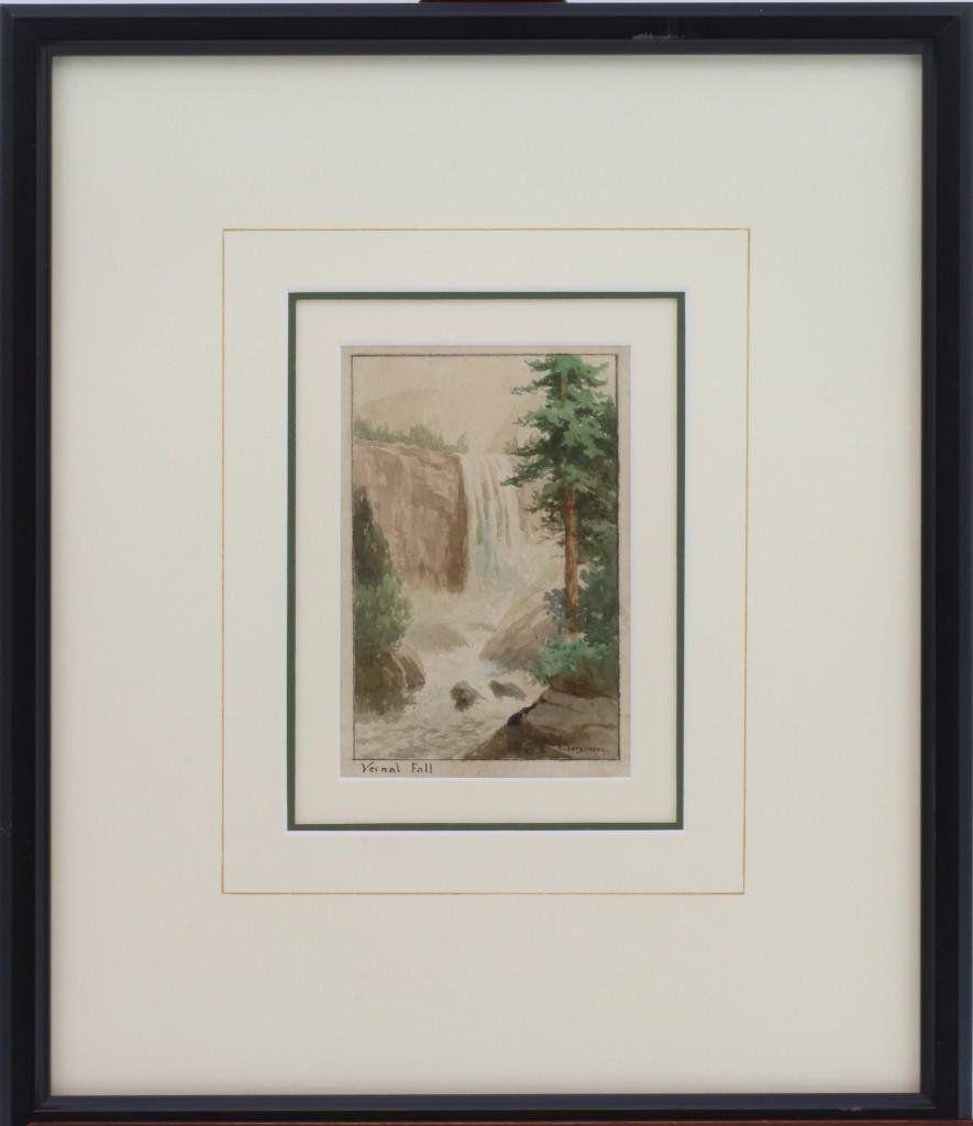 """Christian Jorgensen  (1860 - 1935) """"Vernal Fall"""""""