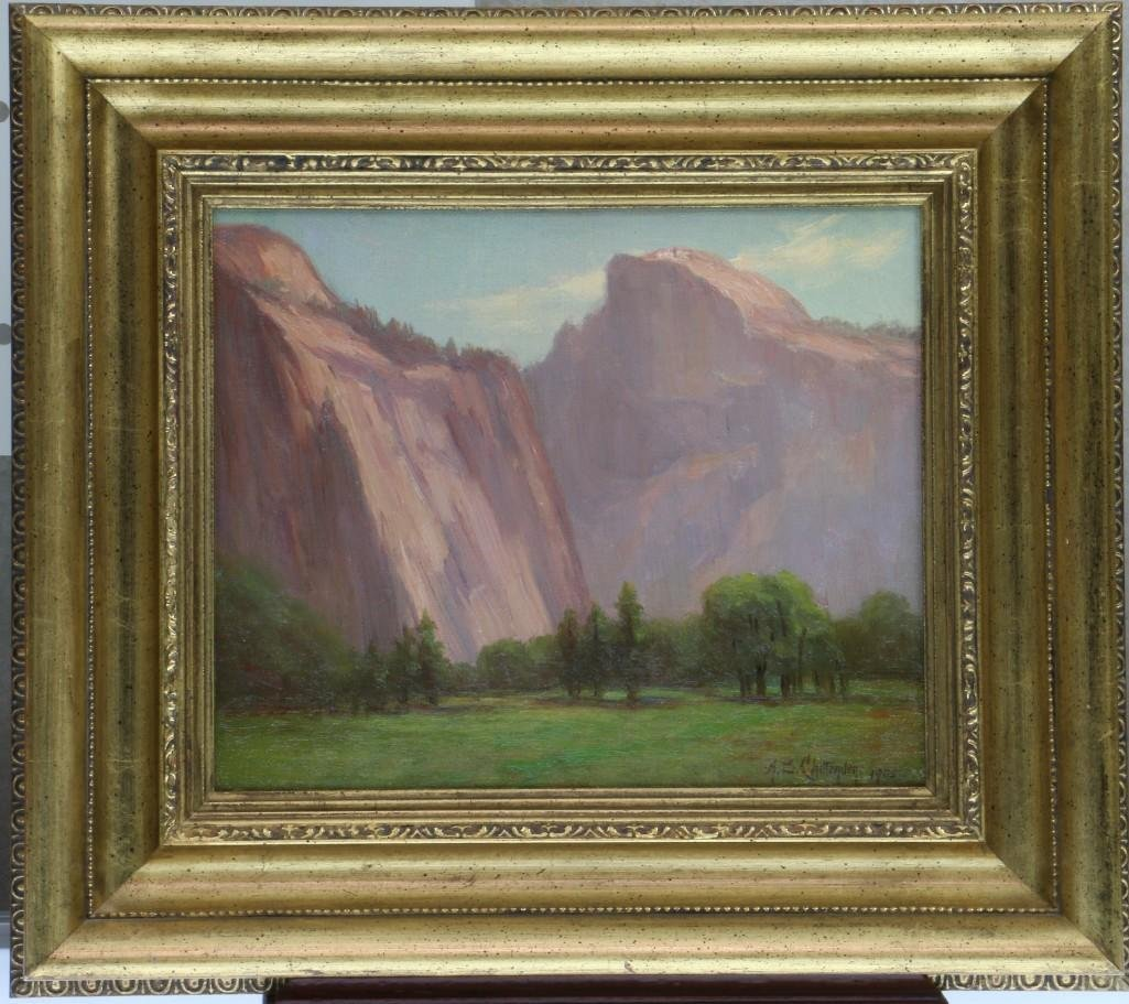 """Alice Chittenden  (1859 - 1944) """"California Landscape"""""""