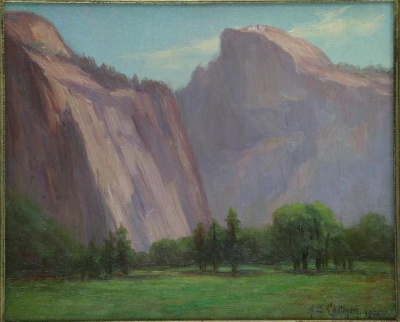 """Alice Chittenden  (1859 - 1944) """"California Landscape"""" - 2"""