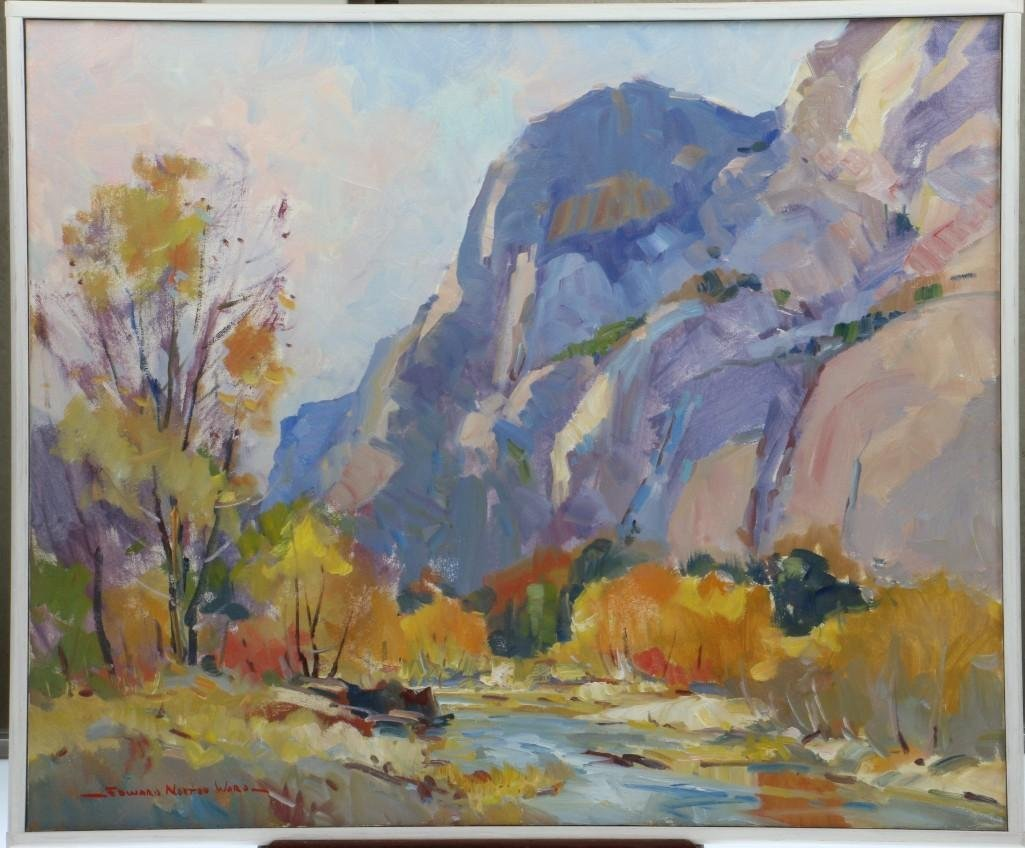 "Edward Ward (born 1928) ""Mountainous landscape"""