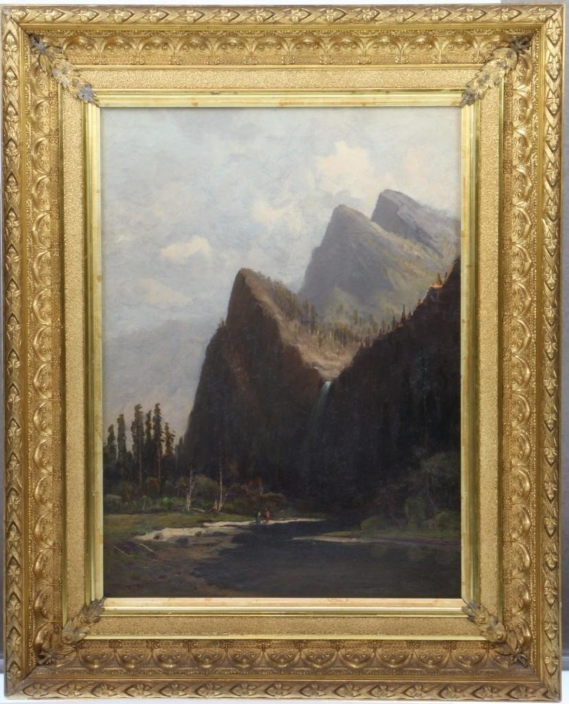 "Frederick Schafer  (1839 - 1927) ""Bridal Vail Falls"""