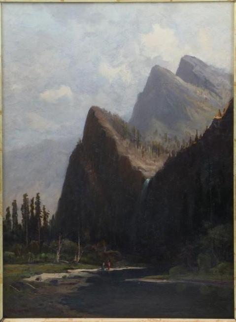 "Frederick Schafer  (1839 - 1927) ""Bridal Vail Falls"" - 2"