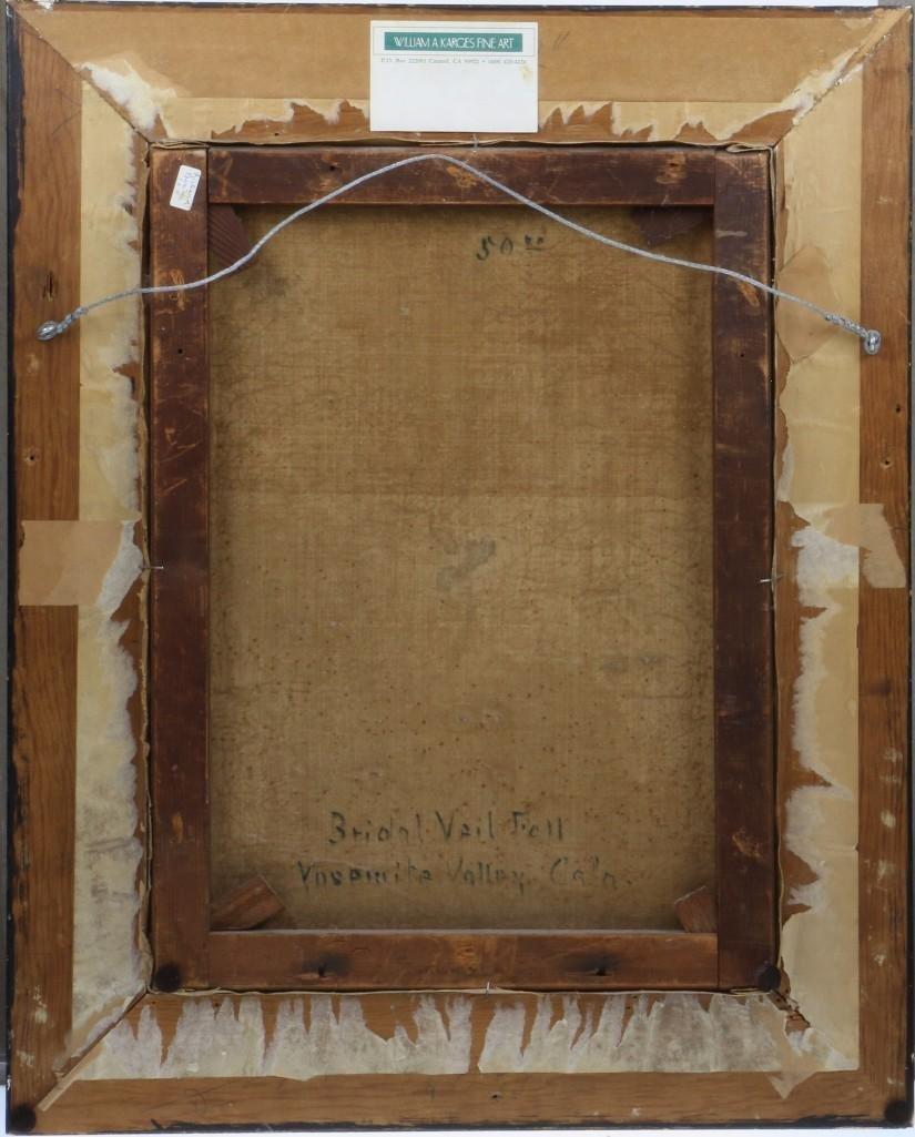 "Frederick Schafer  (1839 - 1927) ""Bridal Vail Falls"" - 4"
