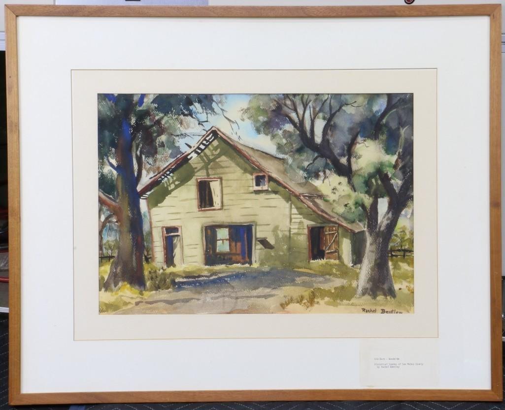 """Rachel Bentley (1894 -1991) """"Scenes of San Mateo County"""
