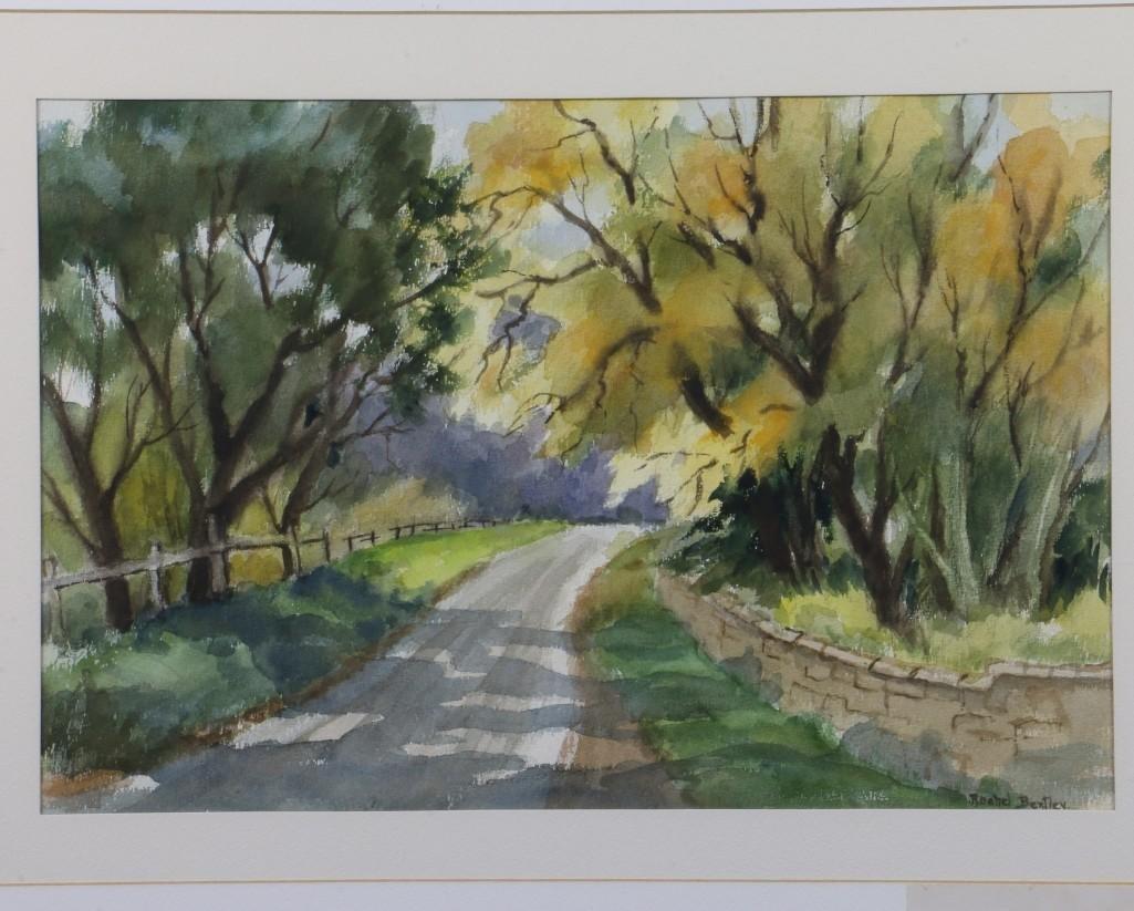 """Rachel Bentley (1894 -1991) """"Scenes of San Mateo County - 2"""