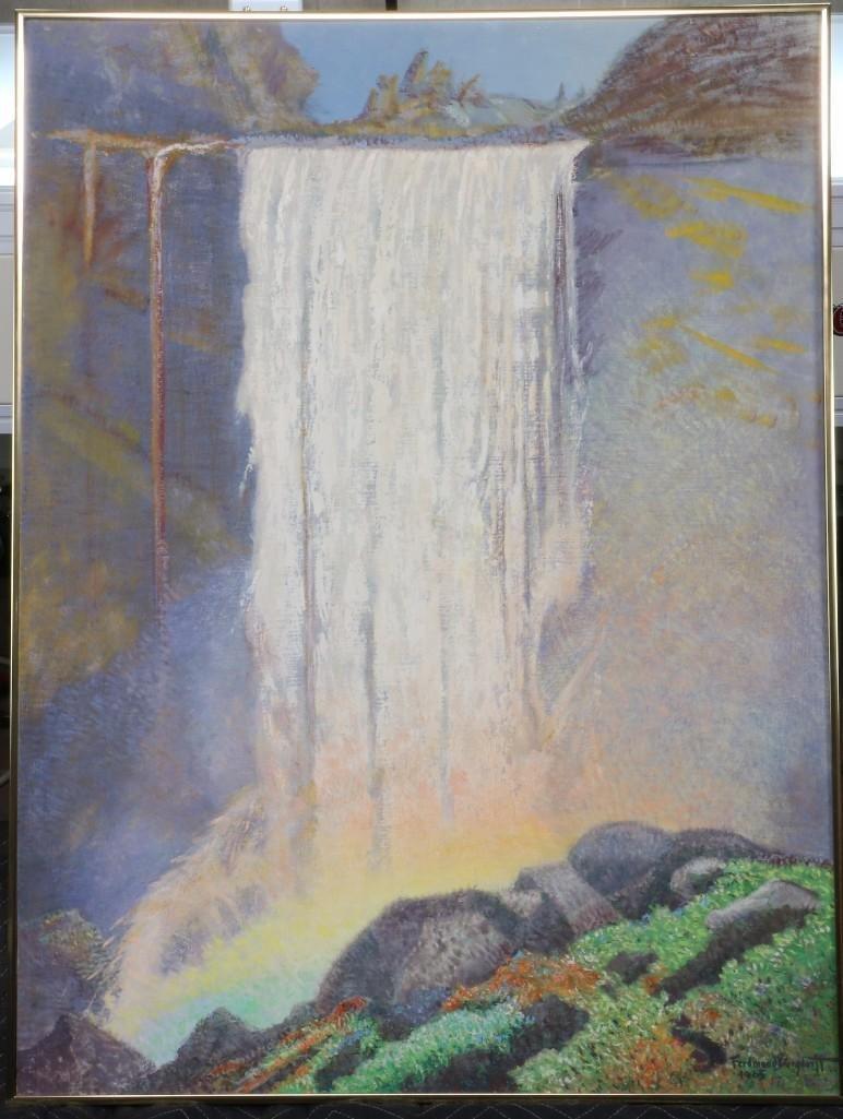 "Ferdinand Burgdorff (1881-1975) ""Vernal Falls Yosemite"""
