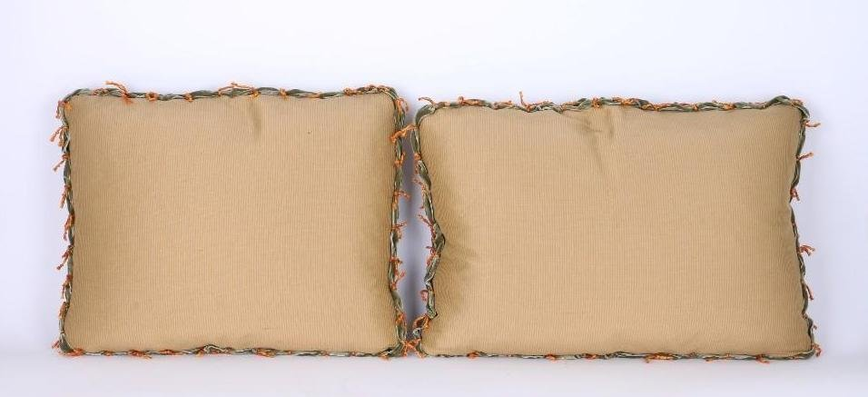 TWO TAPESTRY PILLOWS - 2