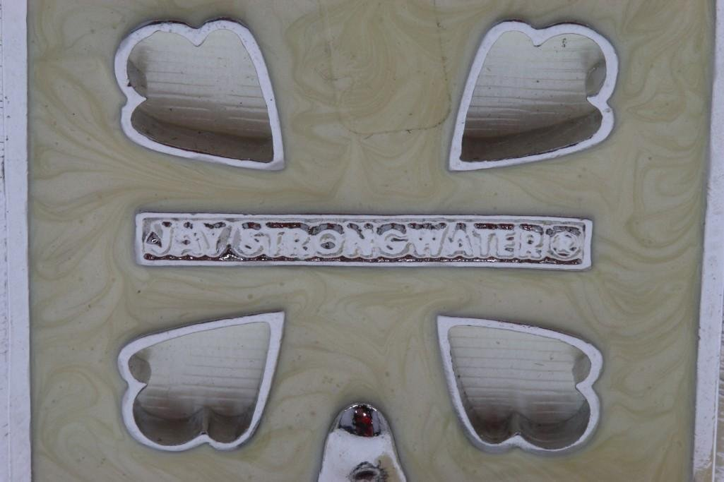 2 JAY STRONGWATER ENAMEL, GILT OR SILVERED PHOTO FRAMES - 4
