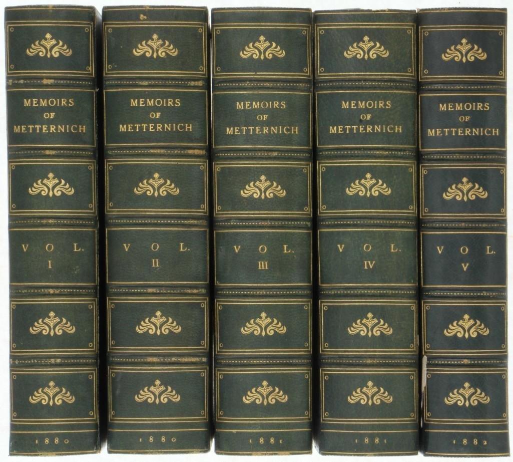 METTERNICH. Memoirs of Prince Metternich. 1880-82. - 2