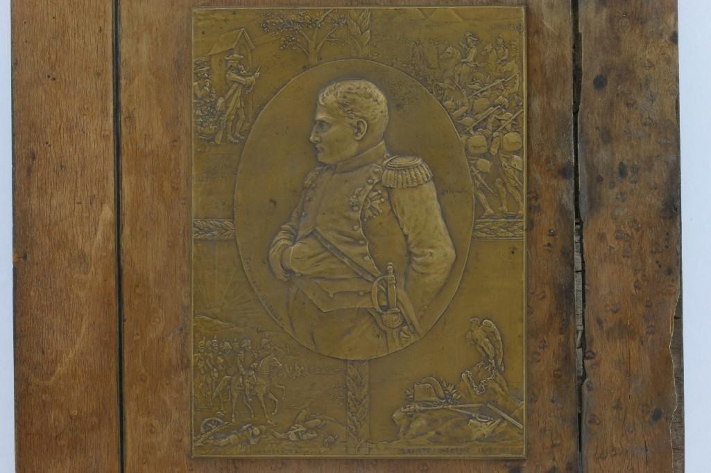 RELIEF PLAQUE OF NAPOLEON SCENES, FERDINAND GILBAULT