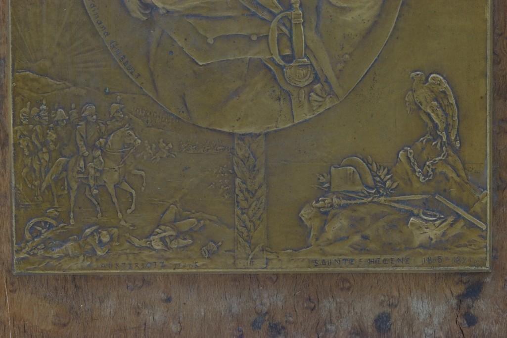 RELIEF PLAQUE OF NAPOLEON SCENES, FERDINAND GILBAULT - 2