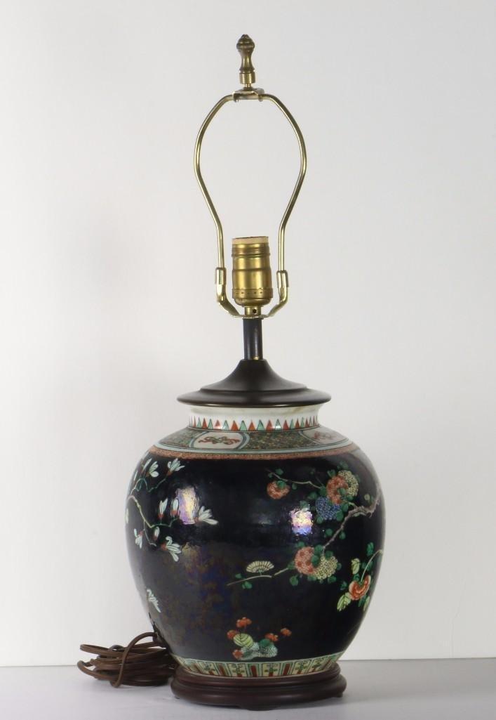 A FAMILLE-NOIRE GLOBULAR VESSEL,  CHINA, CIRCA 1900 - 2