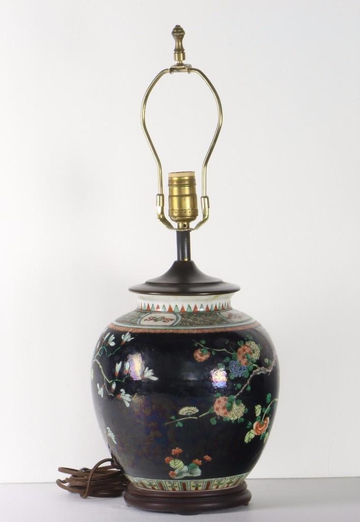 A FAMILLE-NOIRE GLOBULAR VESSEL,  CHINA, CIRCA 1900 - 3