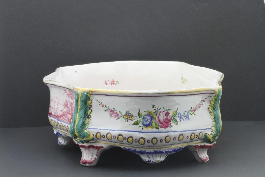 FRENCH FAIENCE CENTERPIECE, LATE19TH/EARLY 20TH CENTURY - 2