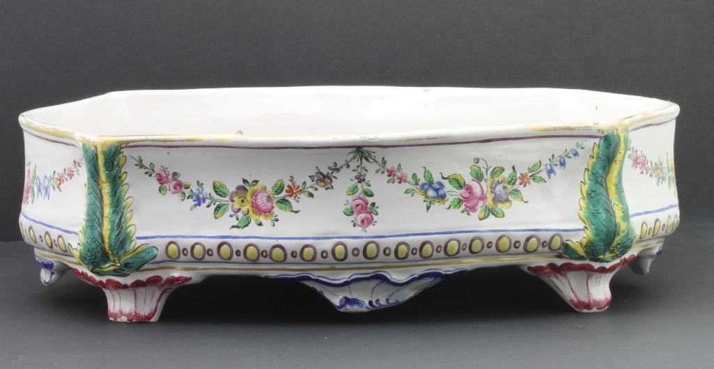 FRENCH FAIENCE CENTERPIECE, LATE19TH/EARLY 20TH CENTURY - 3