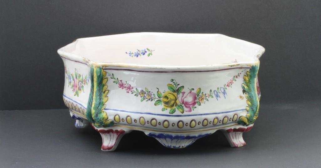 FRENCH FAIENCE CENTERPIECE, LATE19TH/EARLY 20TH CENTURY - 4